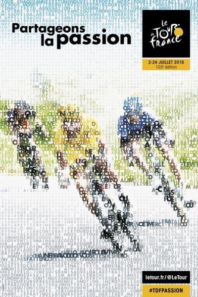Affiche officielle du Tour de France 2016 (Crédits - Le Tour)