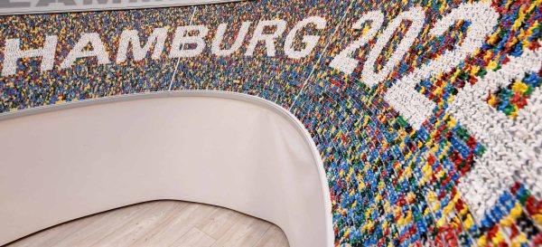 Maquette de Miniatur Wunderland aux couleurs de la candidature (Crédits - www.mediaserver.hamburg.de / Witters)