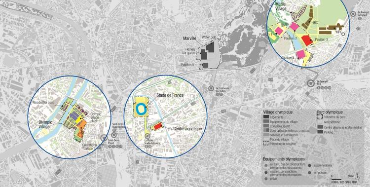 Concept des aménagements prévus à proximité du Stade de France dans le cadre de la candidature (Crédits - Paris 2024)