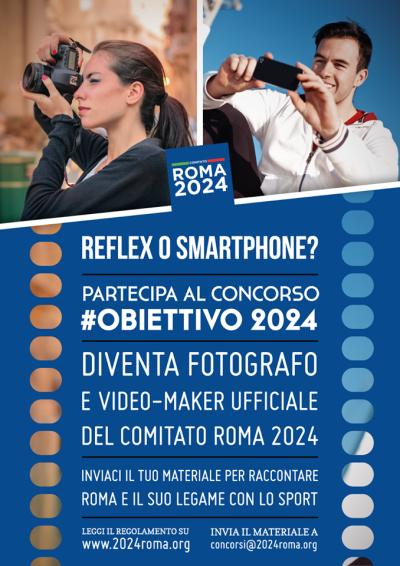 Affiche du concours Obiettivo 2024 (Crédits - Rome 2024)
