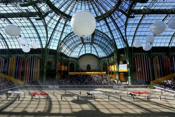Le Grand Palais lors du prestigieux concours du Saut Hermès (Crédits - Saut Hermès 2014)