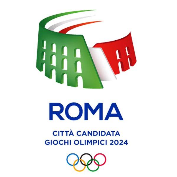 Le logo officiel de Rome 2024 reprend les couleurs italiennes et la forme du Colisée de Rome