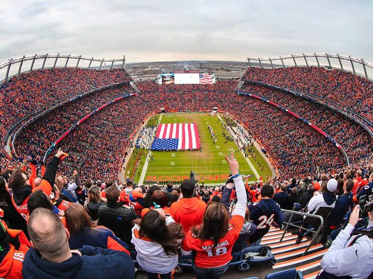 Vue du Sports Authority Stadium de Denver (Crédits - Denver Broncos)