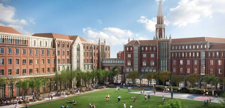 Visuel du campus de l'Université de Californie du Sud (Crédits - LA 2024)