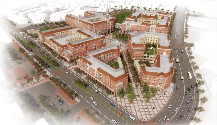 Visuel de la future extension du campus existant. Cet équipement occupera une superficie globale de 6 hectares (Crédits - LA 2024)