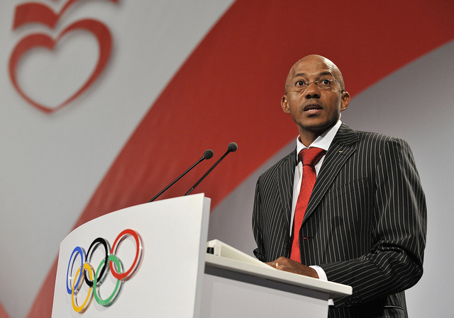 Frank Fredericks en octobre 2009 (Crédits - IOC Flickr / R. Juilliart)