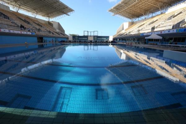 Tat d avancement des travaux du parc olympique de rio for Club de natation piscine parc olympique