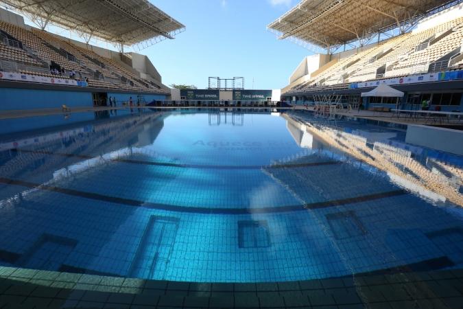 Vue de la piscine du Centre Aquatique Maria Lank de Rio de Janeiro (Crédits - Beth Santos / Prefeitura do Rio)