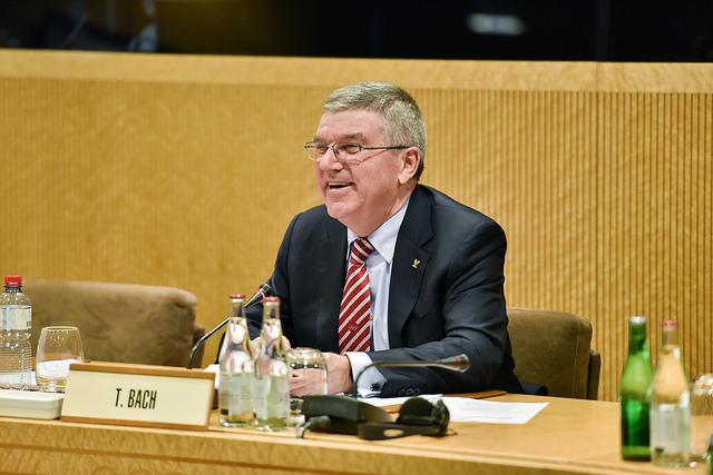 Thomas Bach lors d'une réunion du Bureau exécutif du CIO, en décembre 2015 (Crédits - IOC / Christophe Moratal)
