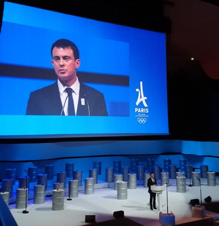 Le Premier Ministre, Manuel Valls (Crédits - Sport & Société)