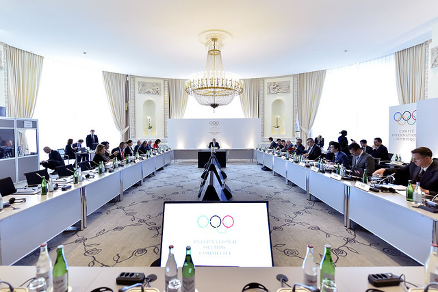 Réunion de la Commission exécutive du CIO, le 1er mars 2016 à Lausanne (Crédits - IOC Flickr / C.Moratal)