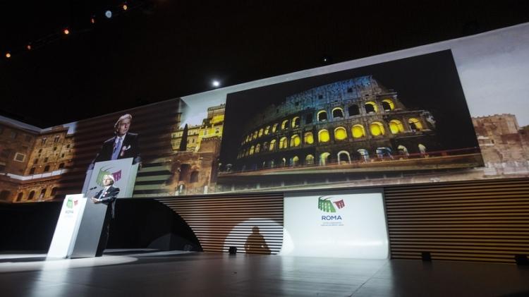 Luca di Montezemolo lors de la présentation du concept de la candidature, le 17 février 2016 (Crédits - Roma 2024)