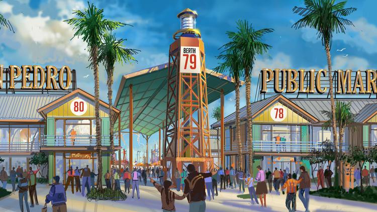Visuel du projet de San Pedro Public Market (Crédits - The Ratkovich Company and Jerico Development)