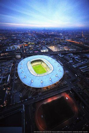 Vue aérienne du Stade de France (Crédits - Stade de France)
