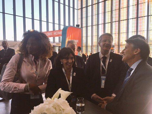 Avec Seb Coe, Président de l'IAAF et ex-patron de Londres 2012 (Crédits - Paris 2024)