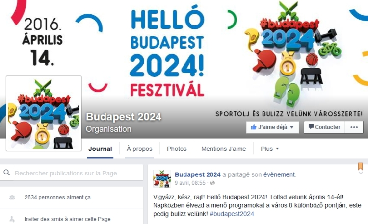 Page officielle Facebook de Budapest 2024 (Crédits - Capture d'écran / Sport & Société)
