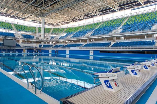 Tat d avancement des travaux du parc olympique de rio - Piscine du stade olympique ...