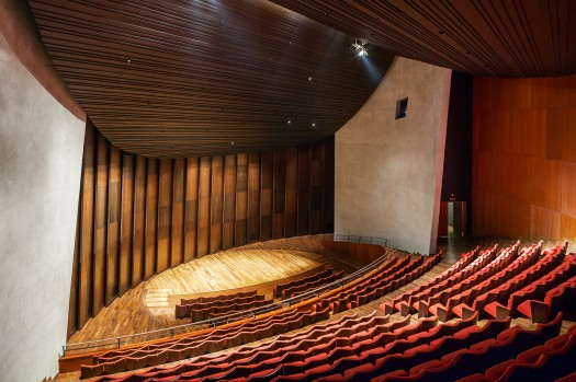 Vue intérieure de la Salle Philharmonique (1 800 places) de la Cité des Arts (Crédits - Christian de Portzamparc)