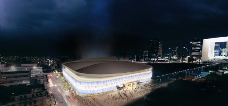 Visuel de la future installation multifonctionnelle (Crédits - Arena 92)