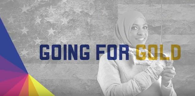 La première vidéo met en lumière l'escrimeuse olympique Ibtihaj Muhammad (Crédits - LA 2024)