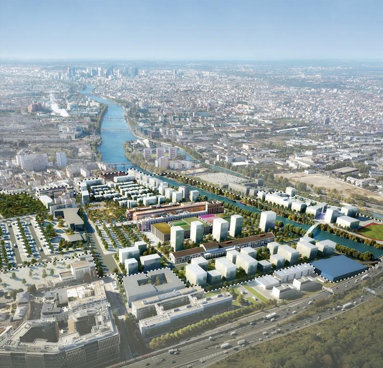 Visuel du Village des Athlètes de Paris 2024 (Crédits - Paris 2024 / Luxigon)