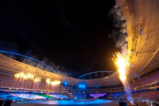 Cérémonie lors de la 5e édition des Jeux Mondiaux Militaires, en août 2011 (Crédits - Cidade Olimpica)