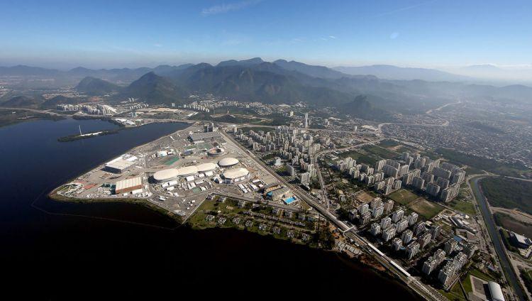 Vue aérienne du Parc Olympique de Barra da Tijuca (Crédits - CIO / Getty Images)