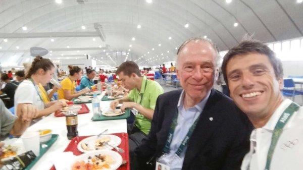 Tony Estanguet et Carlos Arthur Nuzman, Président du Comité d'Organisation de Rio 2016 (Crédits - Tony Estanguet / Twitter)