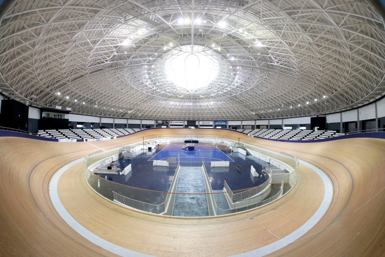 Vue de la piste du Vélodrome d'Izu (Crédits - Tokyo 2020)