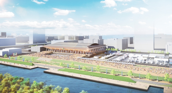 Visuel du futur Centre Olympique de Gymnastique des JO 2020 (Crédits - Tokyo 2020)