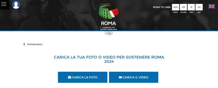 """La candidature le demande à ses partisans : """"Envoyez vos photos ou vidéos pour soutenir Rome 2024"""""""
