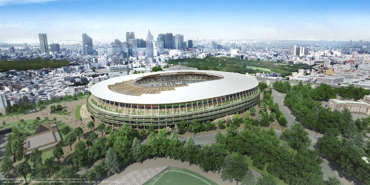 Visuel du futur Stade Olympique (Crédits - Japan Sport Council / Kengo Kuma)