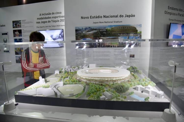 Maquette du futur Stade Olympique de Tokyo 2020 (Crédits - Cidade Olimpica)
