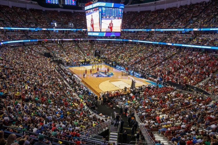 Vue intérieure du Honda Center de Anaheim (Crédits - LA 2024)