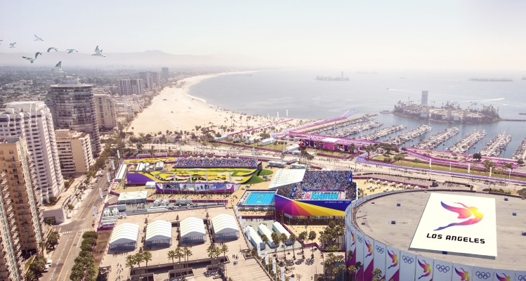Visuel du Long Beach Sports Park (Crédits - LA 2024)