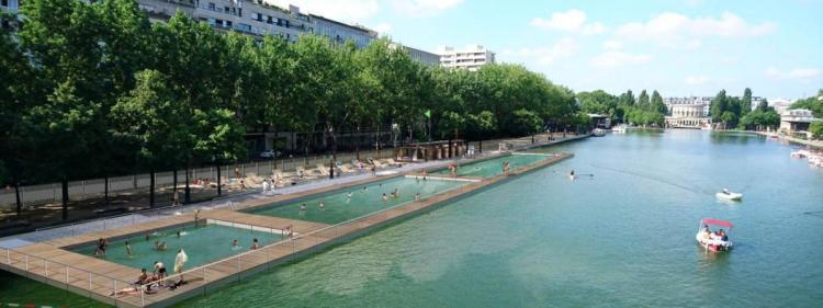 Visuel du projet d'aménagement sur le Bassin de la Villette (Crédits - Mairie de Paris)