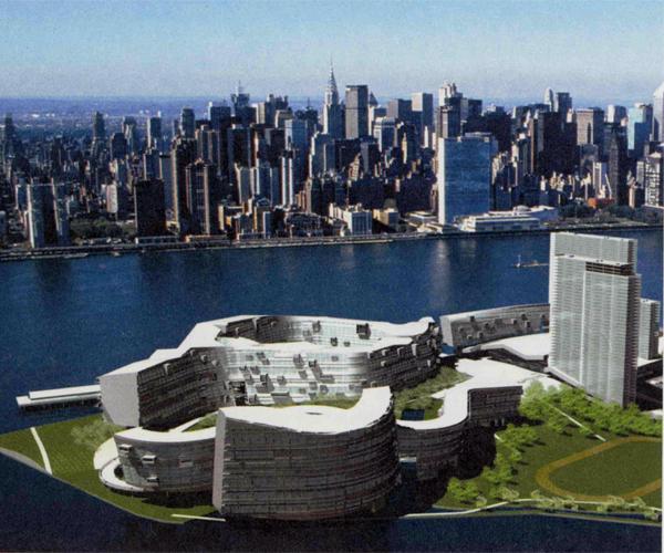 Visuel de l'aménagement des bâtiments du Village Olympique de New York (Crédits - NY 2012)
