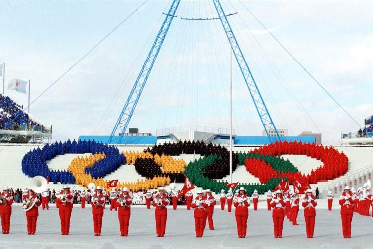 Cérémonie d'ouverture des Jeux Olympiques d'hiver de Calgary 1988 (Crédits - Ville de Calgary)