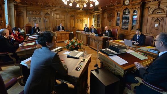 Salle des séances du Conseil Fédéral (Crédits - Admin.ch)