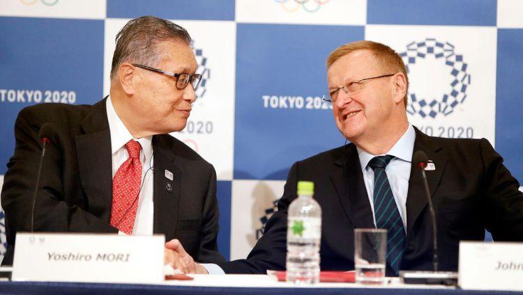Yoshiro Mori, Président du Comité d'Organisation des Jeux de Tokyo 2020 ; et John Coates, Président de la Commission de Coordination du CIO (Crédits - CIO)