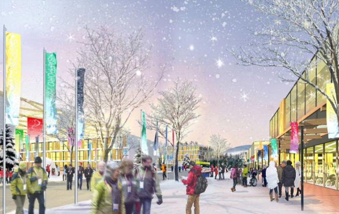 Visuel du Village des Athlètes (Crédits - Sapporo 2026)