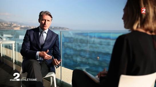 Sebastian Coe interviewé par Clémentine Sarlat pour l'émission Stade 2 du 04 décembre 2016 (Crédits - Capture d'écran / Sport & Société)