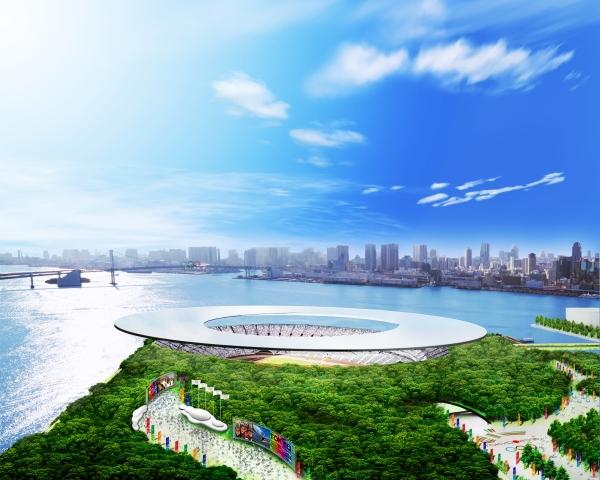 Visuel du projet de Stade Olympique de Tokyo 2016 (Crédits - Dossier de candidature de Tokyo 2016)