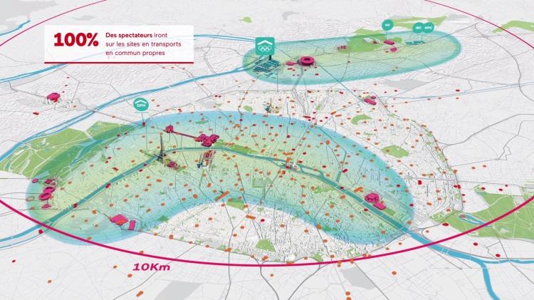 Extrait du film technique de la candidature française (Crédits - Paris 2024)