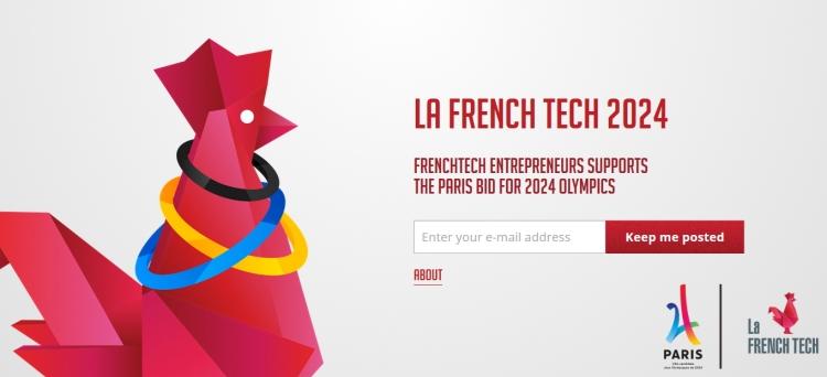 """Capture d'écran de la page d'accueil du site Internet de la """"FrenchTech2024"""" (Crédits - Sport & Société)"""