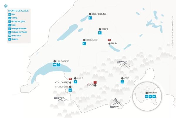 Dispositif proposé par Sion 2026 pour les sports de glace (Crédits - Sion 2026)