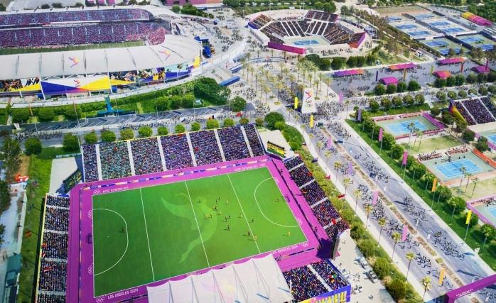 Visuel du Parc des Sports de South Bay avec, en haut à gauche, le StubHub Center (Crédits - LA 2024)