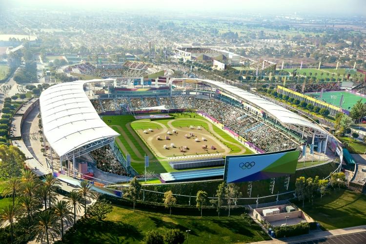 Visuel du Parc des Sports de South Bay, avec au premier plan le StubHub Stadium (Crédits - LA 2024)