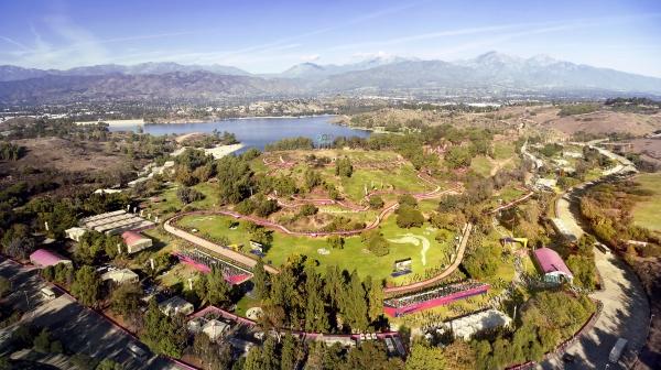 Visuel du parcours de VTT dans le Frank G. Bonelli Regional Park de San Dimas (Crédits - LA 2024)