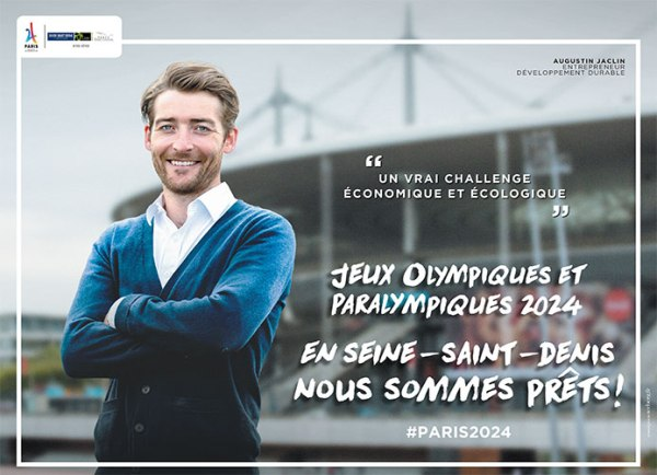 L'entrepreneur Augustin Jaclin est l'un des visages de la campagne de communication (Crédits - Département de la Seine-Saint-Denis)